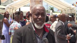 Mr. Romeo Parris who lost his mother in the MV Christena disaster attending the 49th Anniversary Memorial Service for the MV Christena Disaster on Samuel Hunkins Drive on August 01, 2019