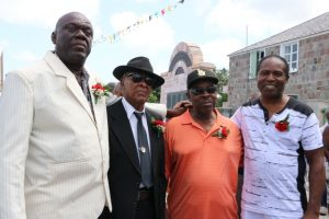 Four of the 91 survivors of the MV Christena disaster at the 49th Anniversary Memorial Service for the MV Christena Disaster (L-r) Mr. Oswald Tyson, Mr. Franklyn Browne, Mr. Ivor Brookes and Mr. Malcolm Simmonds