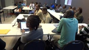 Participants at the Mass Casualty Management System Training session hosted by the Ministry of Health and his organisation at the Nevis Disaster Management Department's Emergency Operations Centre at Long Point on August 19, 2019