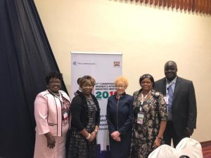 Hon. Hazel-Brandy Williams (extreme left) with other delegates at the 12th Commonwealth Women's Affairs Ministers Meeting (WAMM) in Nairobi Kenya, from September 19 to 20, 2019
