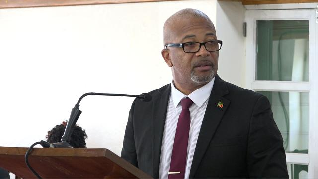 Hon. Spencer Brand, Minister of Physical Planning in the Nevis Island Administration, at a sitting of the Nevis Island Assembly Chambers at Hamilton House on October 08, 2019
