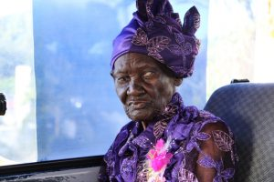 "Ms. Celian ""Martin"" Powell the Federation's oldest citizen celebrating her 100th birthday"