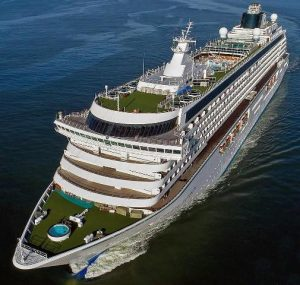 Chrystal Serenity, one of the two cruise ships schedule to make an inaugural call to Nevis during the 2019/2020 cruise season (photo provided)