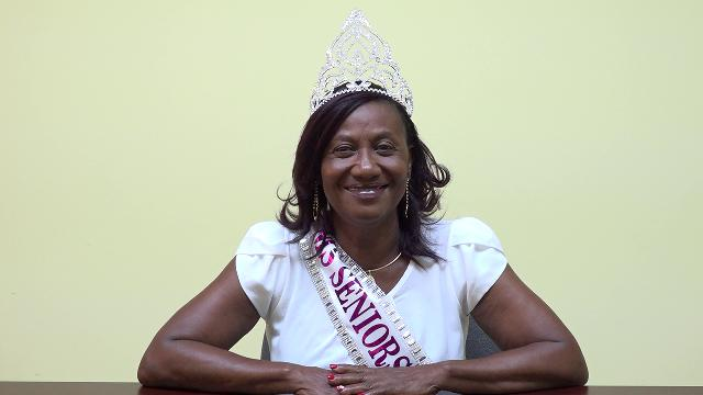 Ms. Idella Wallace, the new Miss Nevis Senior Queen at the Department of Information on October 29, 2019, after emerging winner of the pageant hosted by the Ministry of Social Development through the Department of Social Services, Senior Citizens Division at the at the Cultural Village on October 26, 2019
