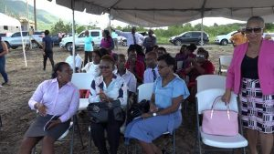 A section of persons present at the official commencement of the Nevis Housing and Land Development Corporation University Heights housing programme at Lower Spring Hill on October 24, 2019, in conjunction with the St. Christopher and Nevis Social Security Board