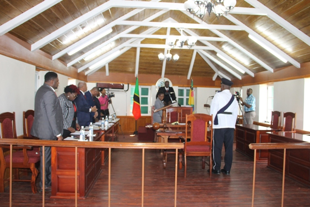 Nevis Island Assembly convenes in Chambers at Hamilton House (file photo)