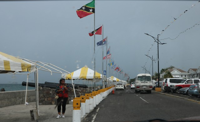 Preparations taking place at the Samuel Hunkins Drive in Charlestown on December 11, one day before the area becomes a hive of activity during the Small Enterprise Development Unit's upcoming Small Business Boardwalk Fair on December 12, 2019