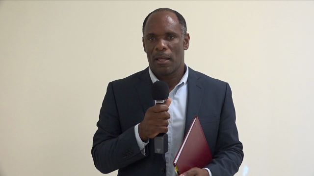 Mr. Colin Dore, Permanent Secretary in the Ministry of Finance on Nevis