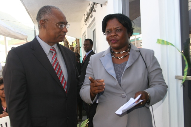 Hon. Joseph Parry, former Premier of Nevis, and his wife Mrs. Myrthlyn Parry at the commissioning of the Eastern Caribbean Supreme Court Mediation Centre in Nevis on January 08, 2008