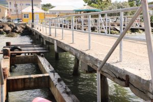 The tender pier at the Charlestown Port on December 02, 2019, before demolition in a Nevis Island Administration project to refurbish the facility