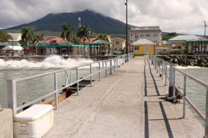 The section of the tender pier at the Charlestown Port on January 02, 2019, which is being redesigned and constructed in a Nevis Island Administration project to refurbish the facility