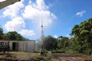 The Hamilton well in the process of being redeveloped by the Nevis Water Department on January 16, 2020