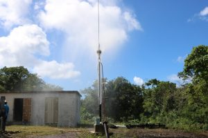 Ongoing work to redevelop a water well at Hamilton on January 16, 2020