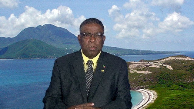 Mr. Elvin Bailey, Supervisor of Elections in St. Kitts and Nevis delivering an address at the Department of Information on February 20, 2020