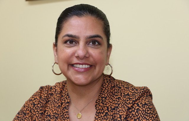 Ms. Amrita Bhalla, Managing Director of A B Consulting, a Toronto-based human resource firm, during s visit to Nevis on February 20, 2020
