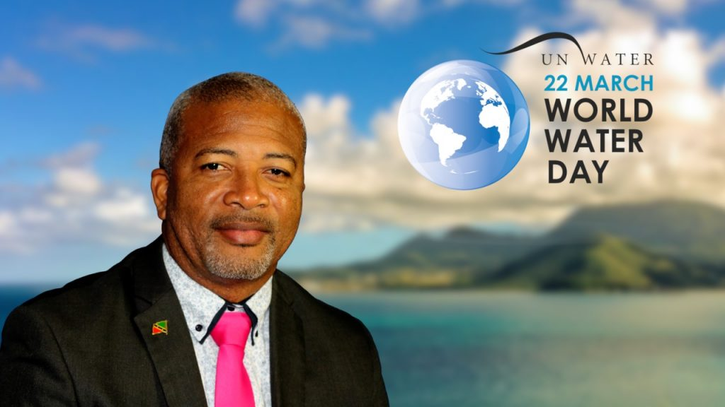 Hon. Spencer Brand Minister responsible for Water Services in the Nevis Island Administration delivering his address for World Water Day observed on March 22, 2020