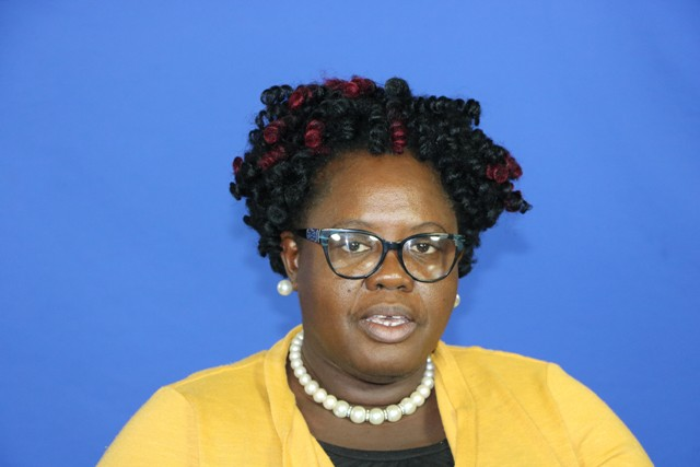 Hon. Hazel Brandy-Williams, Junior Minister of Health in the Nevis Island Administration delivering an address to mark World Health Day on April 07, 2020