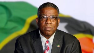 Mr. Elvin Bailey, Supervisor of Elections in St. Kitts and Nevis, delivering an address on May 22, 2020, on General Election 2020