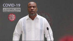 Hon. Mark Brantley, Premier of Nevis delivering an address on May 24, 2020
