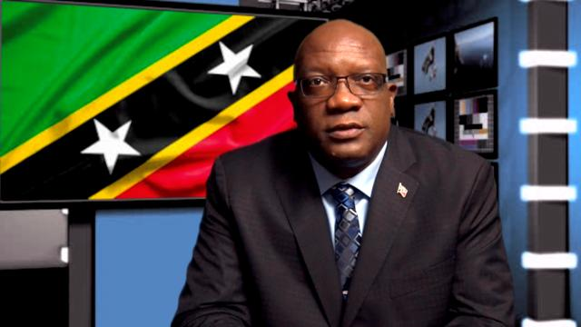 Dr. the Hon. Timothy Harris, Prime Minister of St. Kitts and Nevis delivering an address to the nation on May 18, 2020