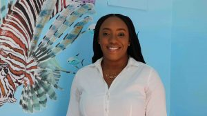 Ms. Melissa Allen, Manager of Nevis Fishermen's Marketing and Supply Cooperative Society Limited in Charlestown