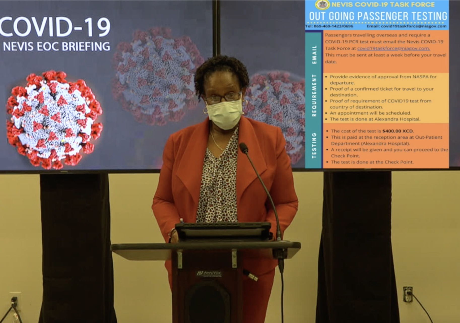 Dr. Judy Nisbett, Chair of the Nevis COVID-19 Task Force