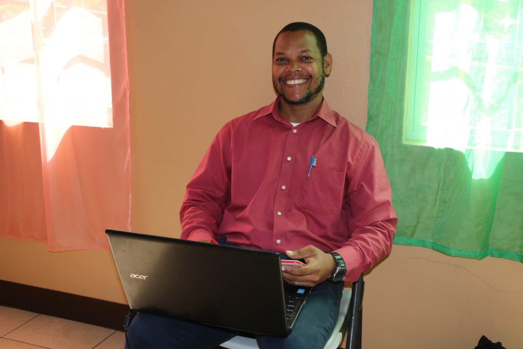 Mr. John Williams, Education Officer in the Department of Education on Nevis, facilitator of the virtual sessions for the Prospective Teachers Course 2020