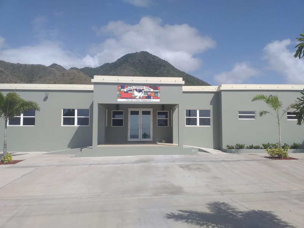 The Oualie Funeral Home & Crematory at New River in the Parish of St. James in Nevis