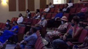 A section of participants at the first COVID-19 sensitization training session on July 27, 2020 at the Nevis Performing Arts Centre, hosted by the Ministry of Tourism in collaboration with the Nevis Tourism Authority and the Ministry of Health
