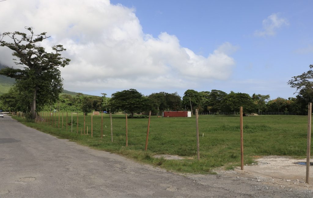The site of the St. Kitts and Nevis Pinney's Beach Park Project at Pinney's on July 30, 2020