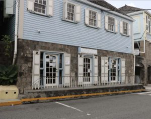 The Nevis Postal Services building in Charlestown