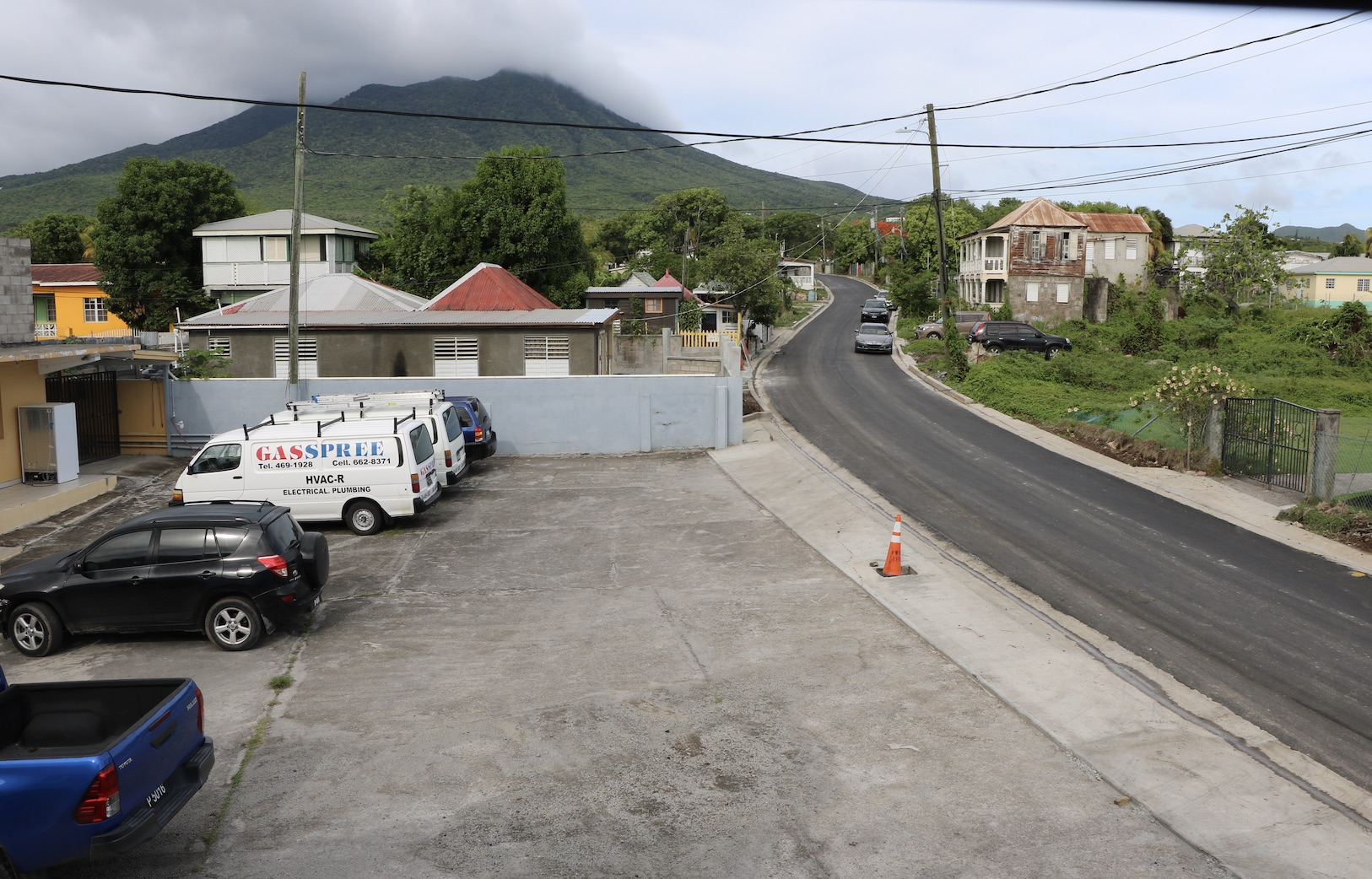 A stretch of completed roadway in the Craddock Road Rehabilitation Project on July 23, 2020