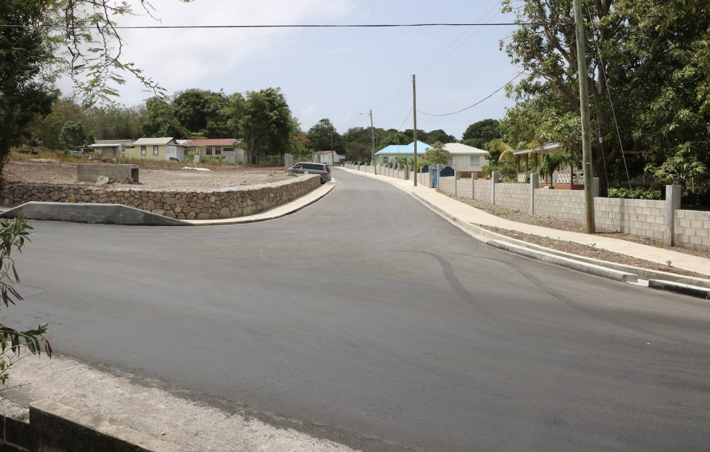 The newly reconstructed entrance of Brown Hill Road under the ongoing Brown Hill Road Rehabilitation Project
