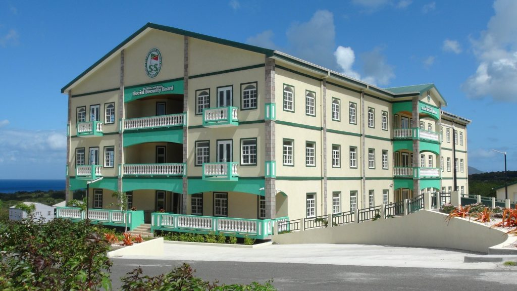 St. Kitts and Nevis Social Security Board building at Pinney's Estate in Nevis (file photo)