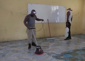 Professional cleaning and sanitizing at the Charlestown Secondary School on August 01, 2020