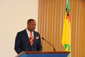 Hon. Mark Brantley, Premier of Nevis and Minister of Finance