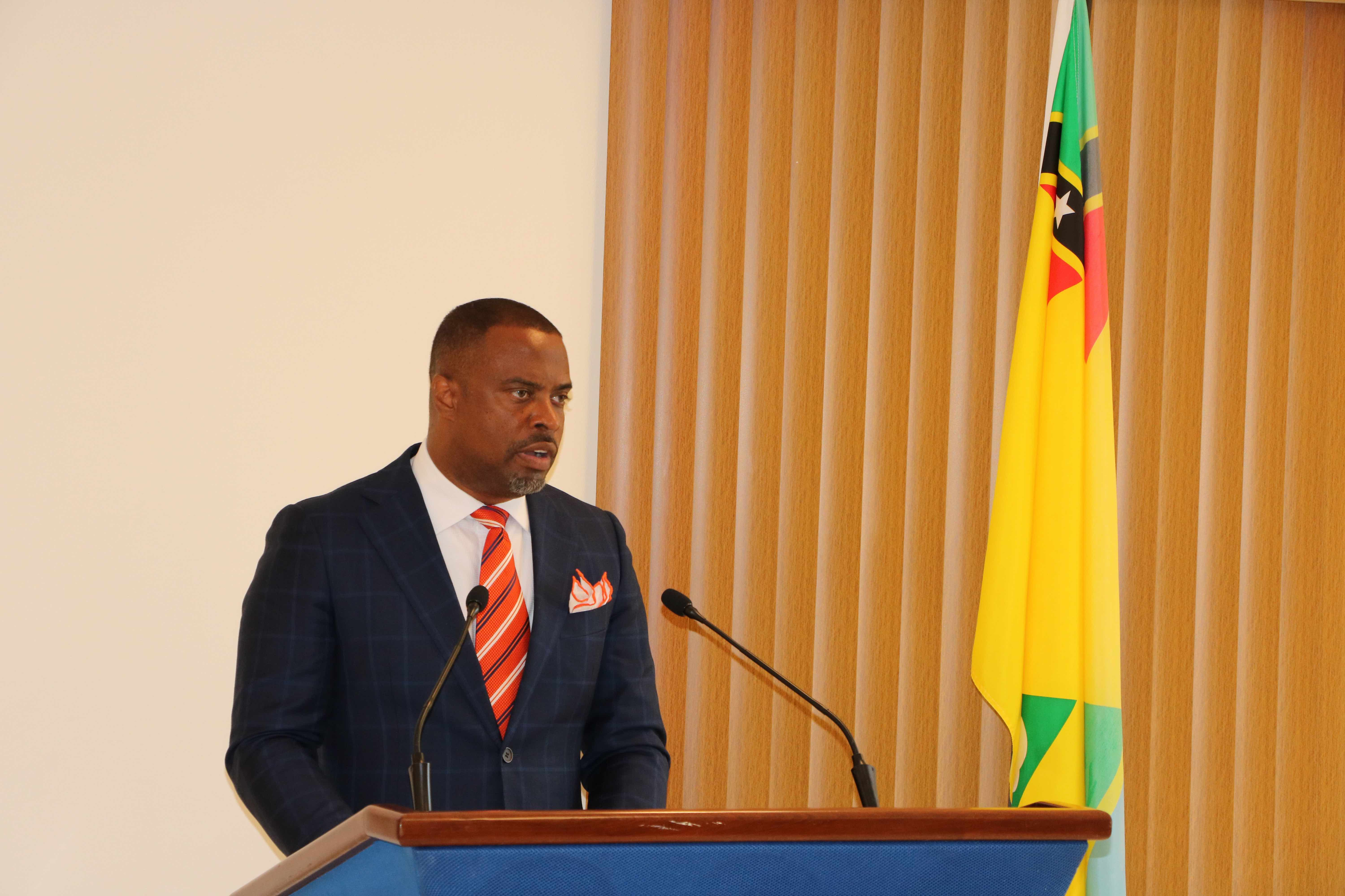 Hon. Mark Brantley, Premier of Nevis and Minister of Finance