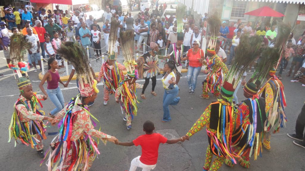 Crowd enjoys cultural performances in Charlestown, Nevis over Emancipation holidays (file photo)