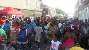 A section of the crowd during the Emancipation in Charlestown on August 03, 2020 (photo by Lester Blackett)