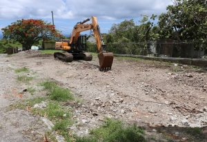 The site in which a state-of-the-art multipurpose technical wing at the Gingerland Secondary School will be constructed as part of an US$8million St. Kitts and Nevis Technical Vocational Education and Training (TVET) Enhancement Project