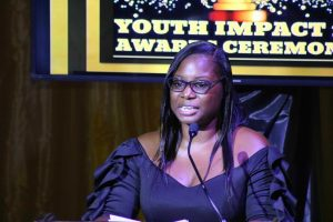 Kerdis Clarke, Director of Youth on Nevis at the Department of Youth's Youth Impact 12 Awards Ceremony at the Nevis Performing Arts Centre on August 12, 2020
