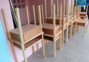 New single desks manufactured by Superior Interiors for public schools to accommodate new physical distancing guidelines