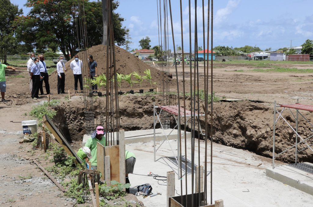 Officials from the Nevis Island Administration and the Embassy of the Republic of China (Taiwan) in St. Kitts and Nevis touring the St. Kitts and Nevis Pinney's Beach Park Project on September 15, 2020