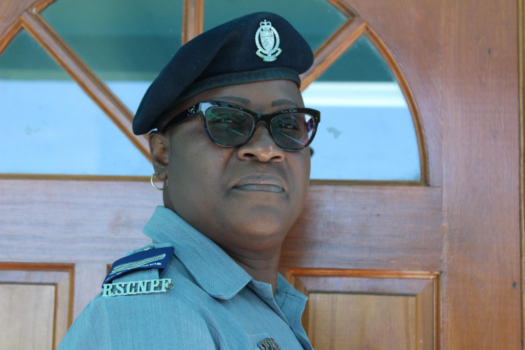 Sgt. Marva Chiverton, Head of the Traffic Division in the Royal St. Christopher and Nevis Police Force, Nevis Division (file photo)