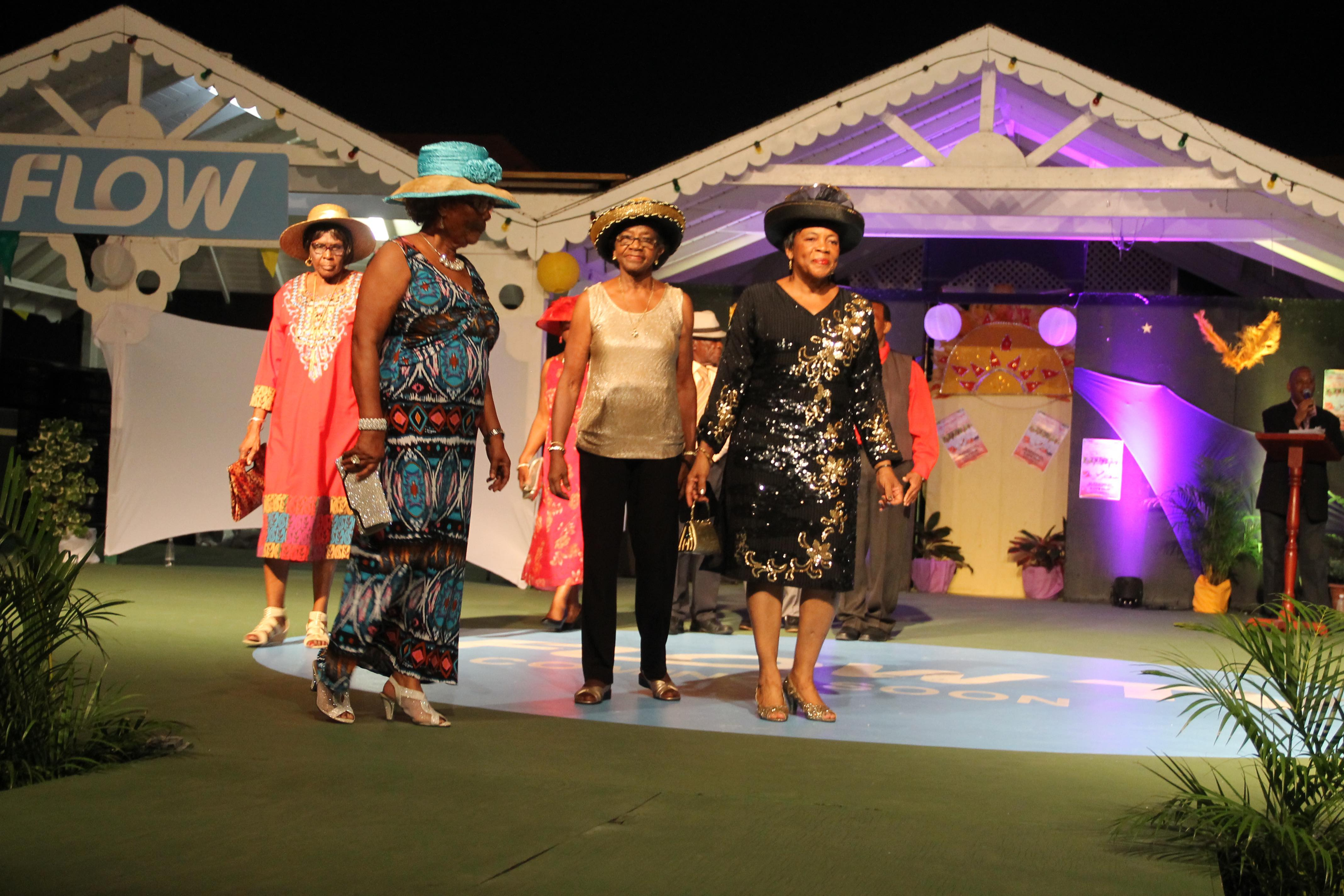 Older persons on Nevis modelling at a Seniors Pageant hosted by the Seniors Division in the Ministry of Social Development (file photo)