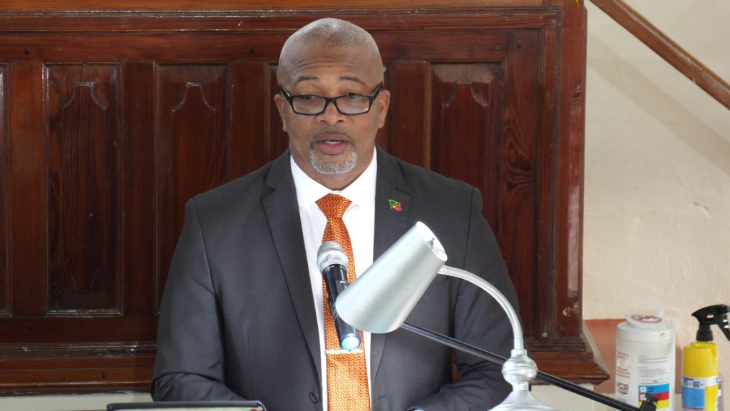 Hon. Spencer Brand, Minister in the Nevis Island Administration, delivering remarks at a special service on September 13, 2020, at the Gingerland Methodist Church to welcome Rev. Franklin Manners, as the new Superintendent Minister of the Methodist Church, Nevis Circuit