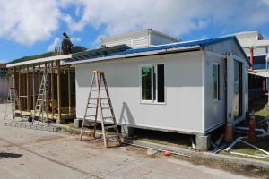 Health screening facility under construction at the Vance W. Amory International Airport in Nevis