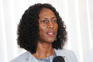 Ms. Shelisa Martin-Clarke, Permanent Secretary in the Ministry of Health (file photo)