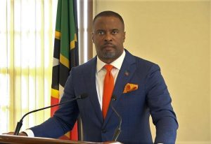 Hon. Mark Brantley, Premier and Minister of Finance in the Nevis Island Administration