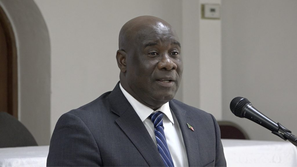 Hon. Alexis Jeffers, Minister of Agriculture in the Nevis Island Administration